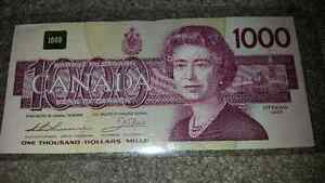 I want 1000$ bills..I will pay EXTRA!!!!!!!!!see my other ads... London Ontario image 1
