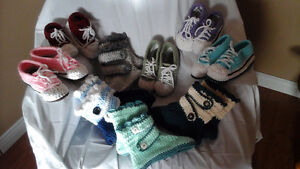 New crochet sneaker slippers and boot slippers