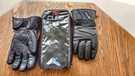 Leather Motorcycle Gloves Large New