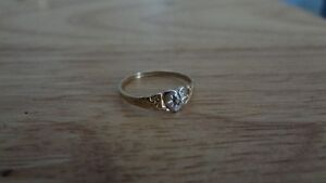 Cute and Tiny 10K Gold Ring! Size 4 Sarnia Sarnia Area image 1