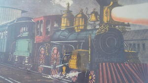 Vintage Print in Frame: The Night Express: The Start - Train Kitchener / Waterloo Kitchener Area image 4