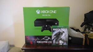 Xbox One Gears of War edition + Watch Dogs - Never Been Opened