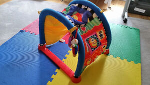 Fisher price baby toy and Interlocking foam play mats  - $15