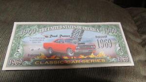1969 Road Runner novelty paper money