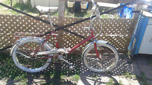 3 Vintage supercycle folding bicycles + a tandem folding bike