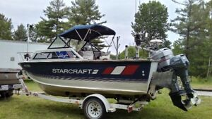Boat StarCraft Islander 190 outboard Great Lakes Fishing Machine