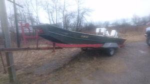21 foot John boat fresh rebuild 90hp