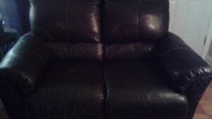 Fauteuil cuir inclinable 2 places