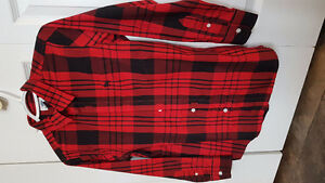 Boys Christmas/Winter plaid shirt