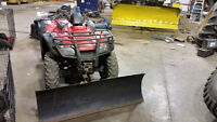 Honda fourtrax trail edition 400cc with snow plow