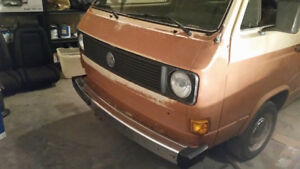 1980 vw bus.. lots of money spent on partial restoration