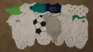 12 onesies - 6 month size
