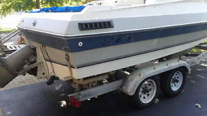 1987 Citation and twin axle trailer