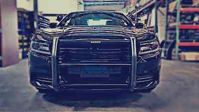 Push Bumper (HD) Go Rhino: (15-18) Dodge Charger part no. 5077 Black Powder Coat