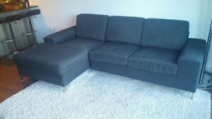 Divan causeuse sectionnel moderne 3 places - Couch sofa modular