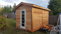 Quality cedar garden sheds, professional installs.