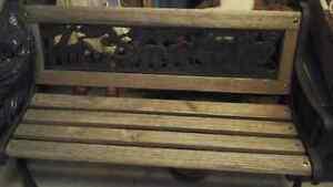 Noah's Ark bench