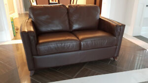 Leather Sofa and Loveseat - Excellent Condition