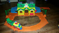 Elmo train station play set.