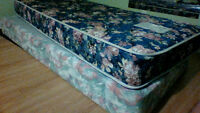 Mattress , box spring and metal frame (not in pic)