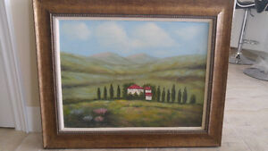 Real oil painting bought from home sense