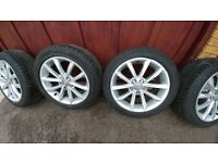 "Genuine Audi 17"" Alloys Including Tyres With 6mm Tread. A4/A5/A6"