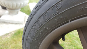 set of Euro max rims with Dunlop 205/55R16 tires Windsor Region Ontario image 2