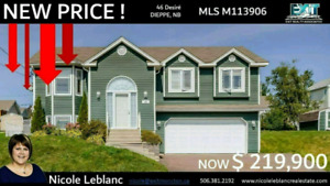 Beautiful Dieppe home in ideal area - For Sale