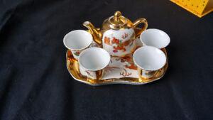 Miniature china tea set