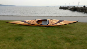 New 17' Custom Handmade Wood/Fiberglass Sea Kayak