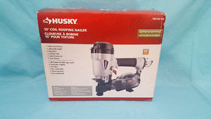 Husky Pneumatic 15 degree Coil Roofing Nailer