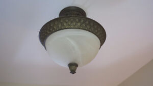 Bathroom Ceiling light and 2 wall sconces