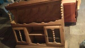 Tête de vaissellier en bois
