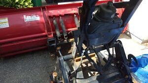Western wide out snow plow and one ton Snowex salter for sale