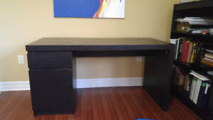 Ikea Malm Desk Black Great Condition