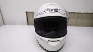 casque full face  shoei blanc avec motif x small