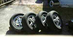4all season and 4 winter on rims plus spare