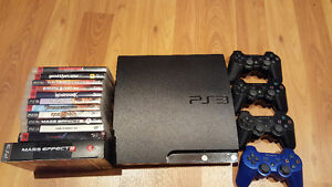 PS3 Slim (320GB) Collection! Console + 4 Controllers + 12 Games!