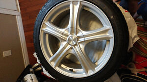 "*NEW* RTX 17"" Rims with performance SNOW TIRES. Belleville Belleville Area image 1"