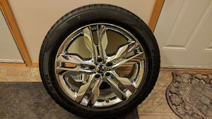 "20"" Ford Edge Chrome Clad Rim With Tire For 2011-2014 Model Year"