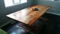 Custom One Off Reclaimed Barnwood Harvest Table