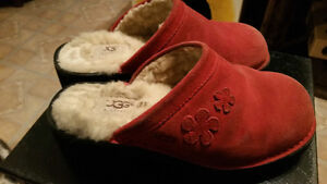 Ugg winter clogs...red suede...Sale $10.