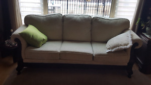 Antique couch and loveseat