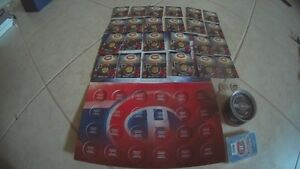 Collection Canadiens de Montreal - 24 Tokens, Puck, Card Deck