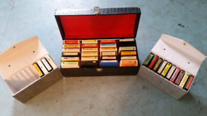 Vintage 8 track tapes in original cases