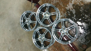 18 inch chrome aluminum five spoke MSR