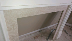 Fireplace mantle with marble and mdf moulding