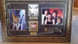 Framed Picture Signed by All 4 Members of Queen