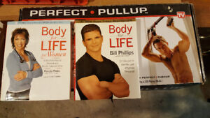Perfect Pullup Exercise Bar BNIB and Body-for-LIFE Books