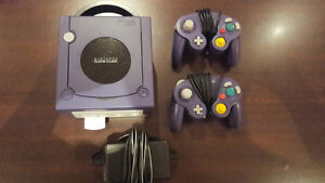 Purple Gamecube Console, 2 Controllers, & 64MB MemoryCard